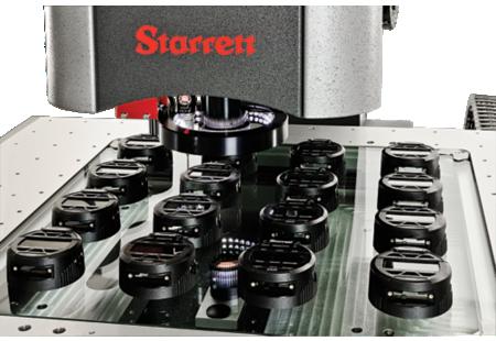 AV300+ Galileo CNC Video Inspection System close-up measuring indicator parts