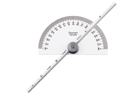 C493B Steel Protractor and Depth Gage