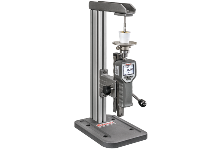 MTL-110 Manuel Force Tester; coffee pod puncture vertical application