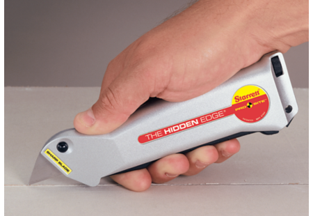 S011 Pro Site Hidden Edge Utility Knife application cutting drywall