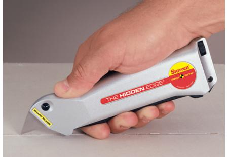 S011 Pro Site Hidden Edge Utility Knife application cutting drywall