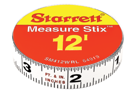 SM412WRL Measure Stix Steel Measuring Tape with adhesive backing