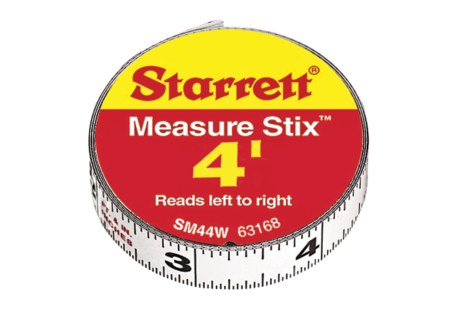 SM412W Measure Stix Steel Measuring Tape with adhesive backing